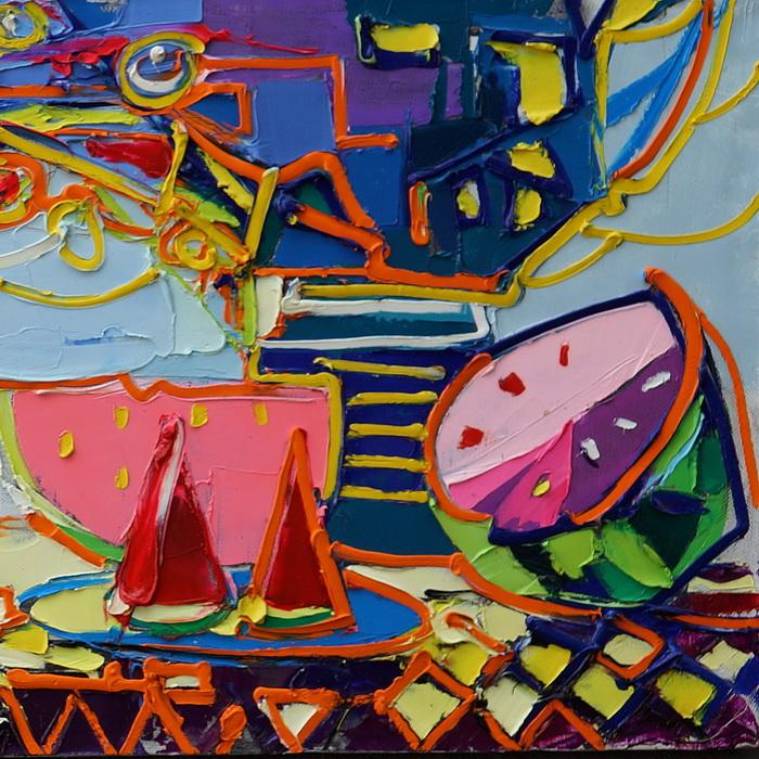 Watermelonday. 46х152cm. Oil on canvas. 2014