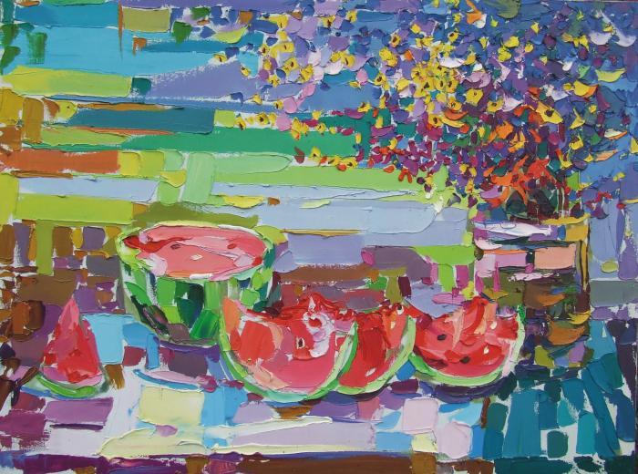 Watermelon. 121х90cm. Oil on canvas. 2007
