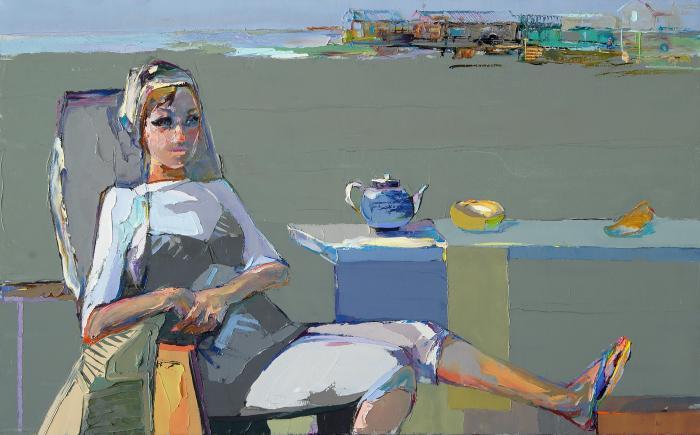 The Beach Of Hope. 117х200cm. Oil on canvas. 2012