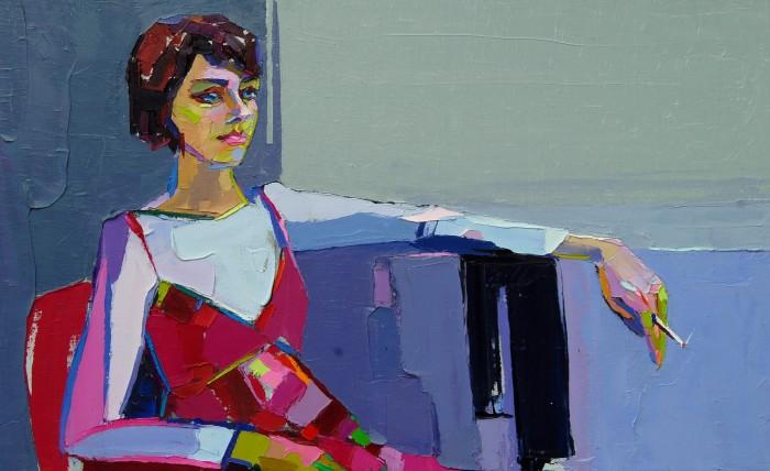 Girl In Red. 70х110cm. Oil on canvas. 2013