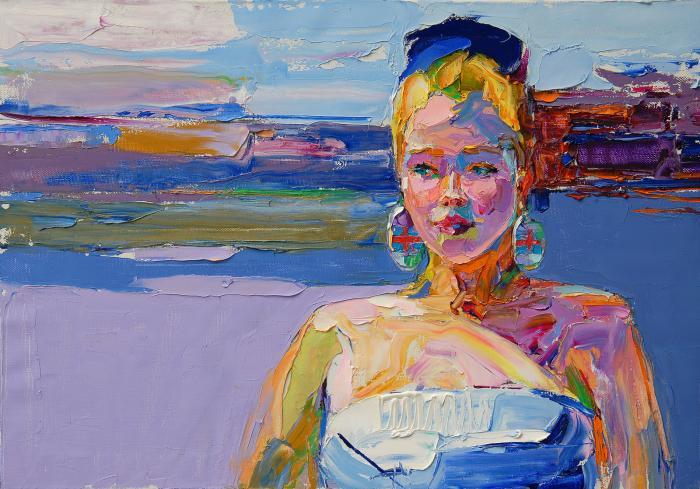 Dane Girl. 70х100cm. Oil on canvas. 2013