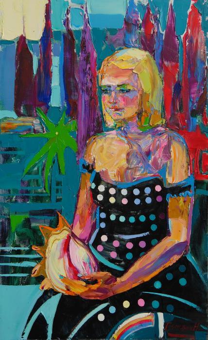 Dasha. 80х135cm. Oil on canvas. 2013