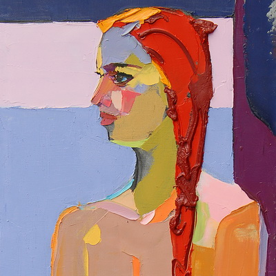 Jazz-stalk. 168х50cm. Oil on canvas. 2013