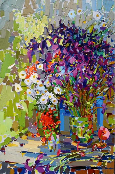 Irises. 150x100cm. Oil on canvas. 2006