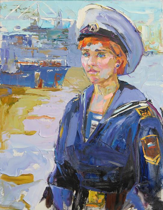 Cadet. 70х100cm. Oil on canvas. 2013