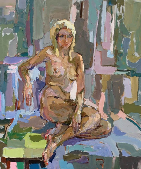 Lia. 165х132cm. Oil on canvas. 2009
