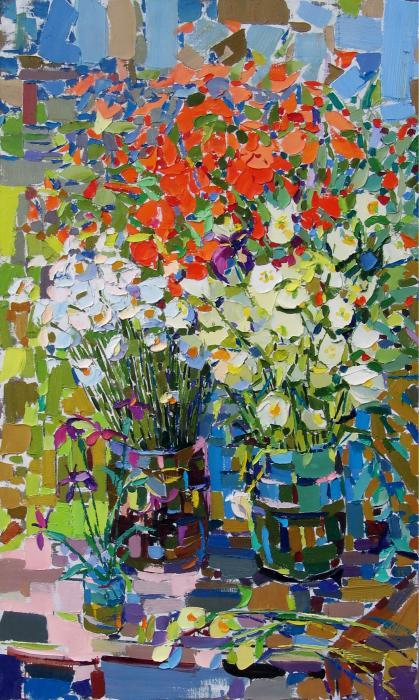 Poppies. 148х90cm. Oil on canvas. 2006