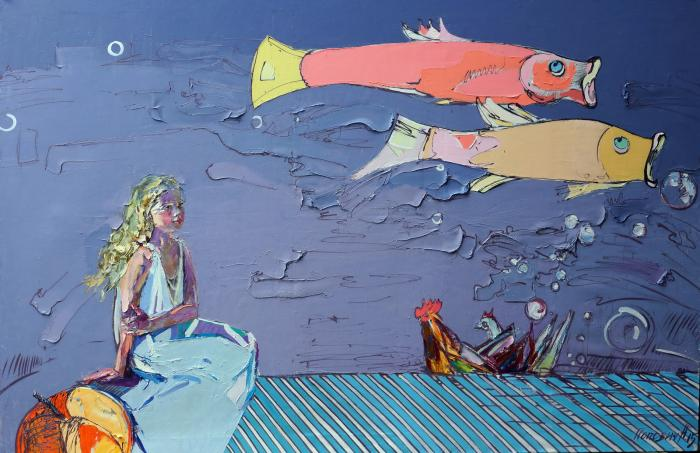 Milk And Honey Tale. 190х290cm. Oil on canvas. 2015