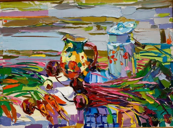 Still life with yellow jar. 90х120cm. Oil on canvas. 2007