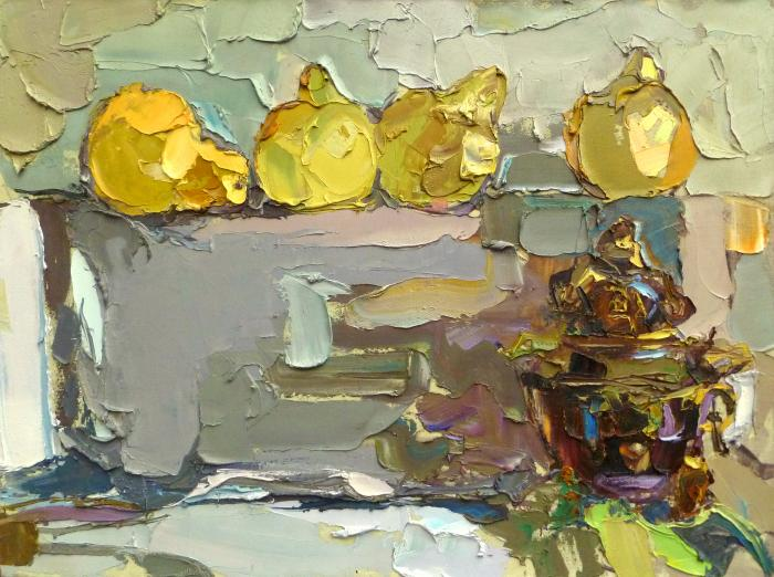 Still Life with Pomelos. 90х120см. Холст, масло. 2009