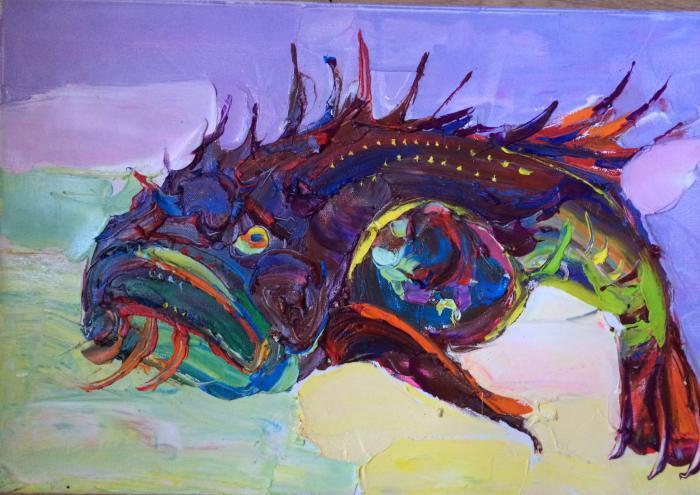 Fairy fish.39х59,5cm. Oil on canvas. 2014