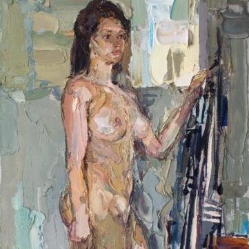 Nude. 186х72cm. Oil on canvas. 2009