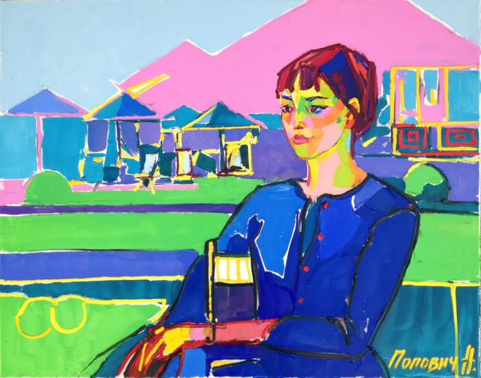 Paris Girl. 80х125cm. Oil on canvas. 2013