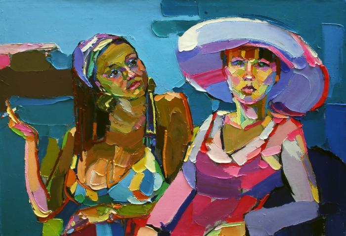 Friends. 90х120cm. Oil on canvas. 2010