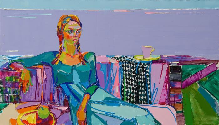 Looking. 101х170cm. Oil on canvas. 2013