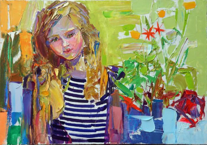 Sunny. 70х100cm. Oil on canvas. 2015