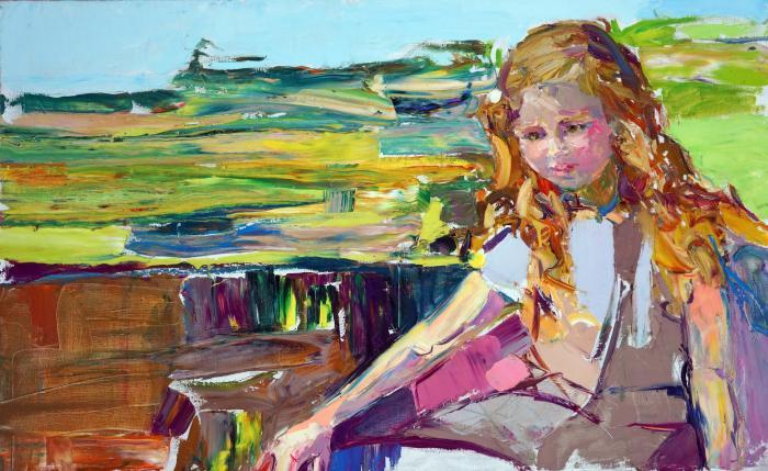 Warm evening. 70х125cm. Oil on canvas. 2015