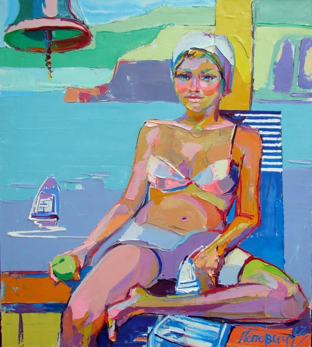 Sportsgirl. 129,5х110cm. Oil on canvas. 2013