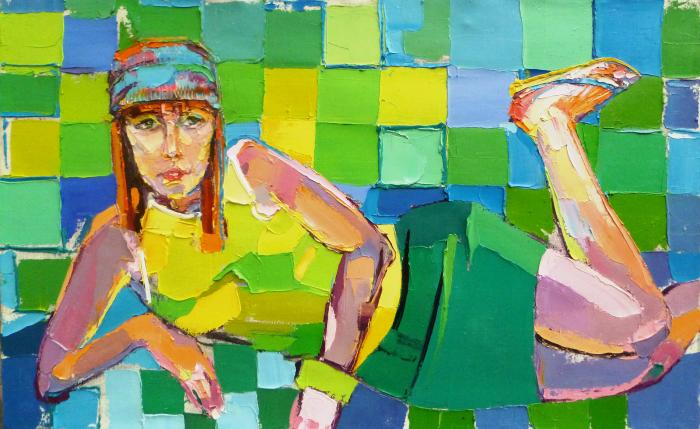 Princess Frog. 70х120cm. Oil on canvas. 2010