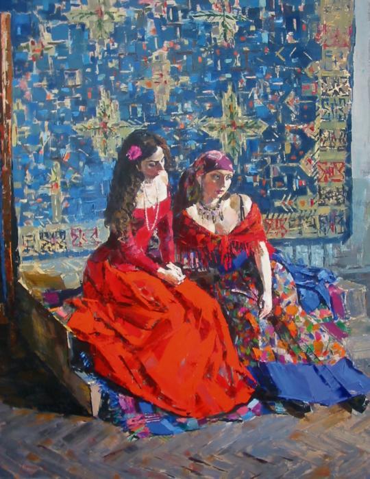Gypsies. 180х140cm. Oil on canvas. 2002
