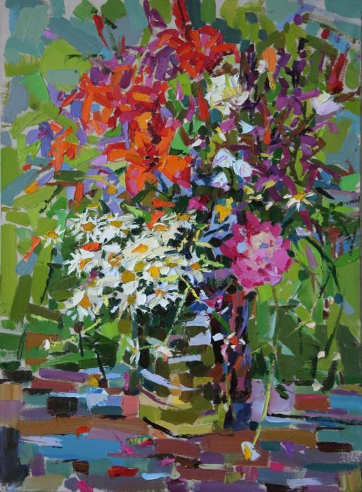 Bouquet. 120x90cm. Oil on canvas. 2005