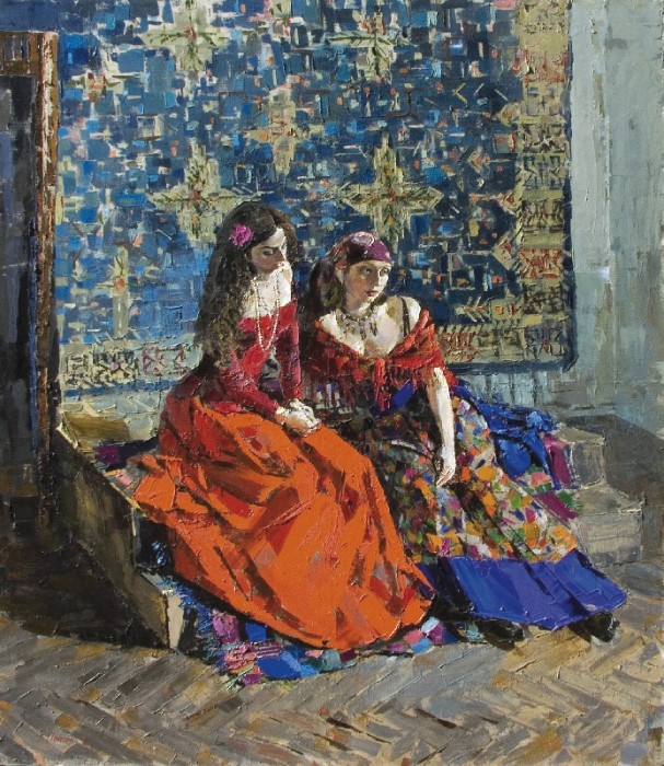 The Gypsies, 2002, canvas, oil painting, 180х140