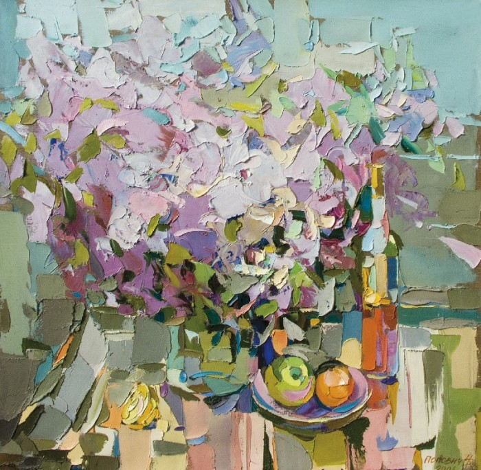 The Lilac, 2006, canvas, oil painting, 100х100
