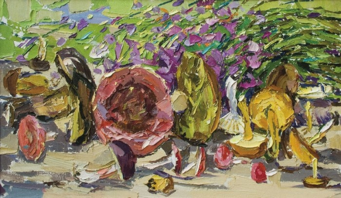 The Mushrooms, 2005, canvas, oil painting, 40х70
