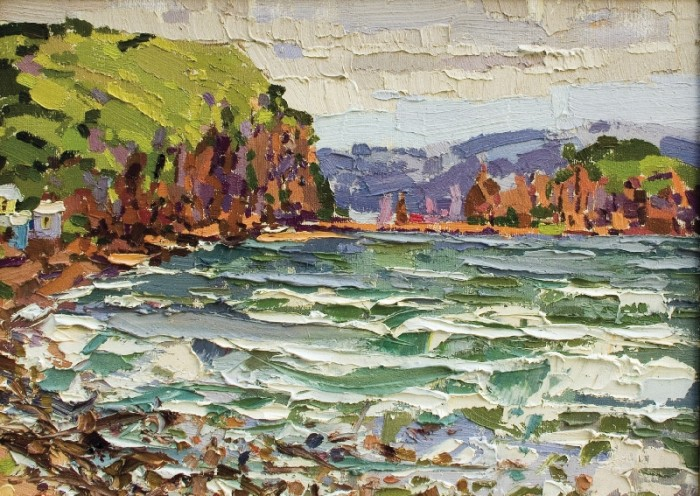 The Popov island, 2005, canvas, oil painting, 40х61