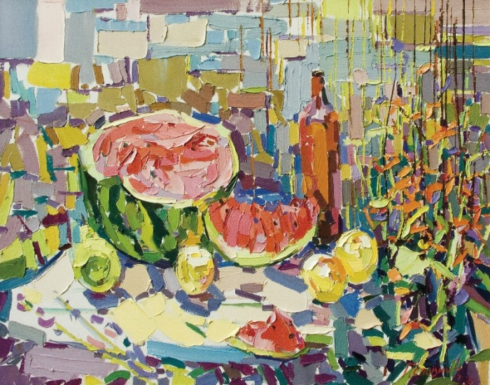 The Watermelon, 2006, canvas, oil painting, 90х120